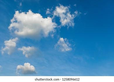 Cumulus could in blue sky.