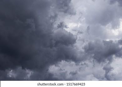 Cumulus epic grey dark storm clouds background texture