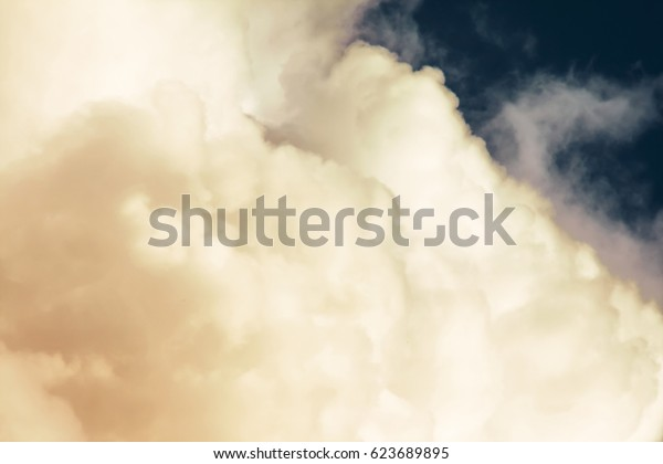 Cumulus thunderclouds in summer, Horizontal