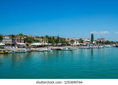 Cunda (Alibey) Island, Ayvalik, Balikesir / Turkey - July 8 2015:  Ayvalik Cunda Island view from the sea
