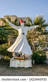 Cunda Island, Ayvalik / Turkey - 05.07.2017: The statue of Sufi whirling or turning which is a form of physically active meditation which originated among Sufi dervishes of the Mevlevi.