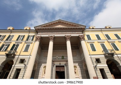 CUNEO, ITALY - MAY 6, 2015: Historic old town of Cuneo on May 6, 2015 in Cuneo, Italy. It is the capital of the province of Cuneo and is one of the most visited cities in Piedmont.