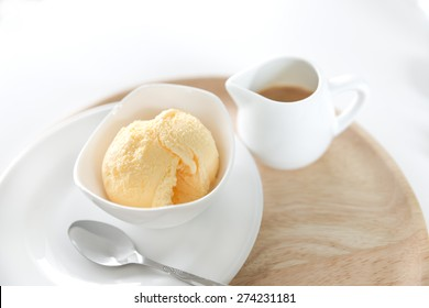 Cup of Affogato with ice cream