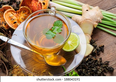 cup of Asian herbal tea