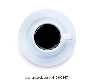Cup of black coffee isolated on a white background. With clipping path.