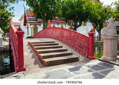Cup Bridge at Wat Benchamabophit also known as Marble Temple in Bangkok, Thailand.