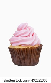 Cup cake on isolated white background. - Shallow of focus