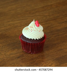 Cup Cake on table wood