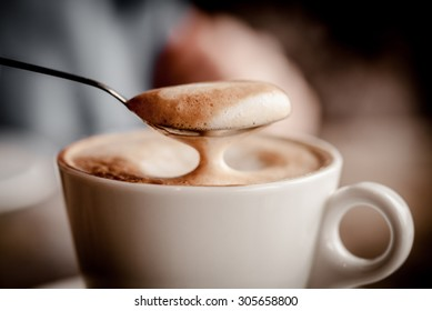 Cup of Cappuccino Coffee