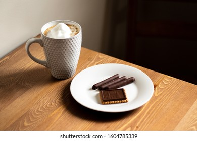 Cup of Cappuccino/Expresso Coffee with Cookies
