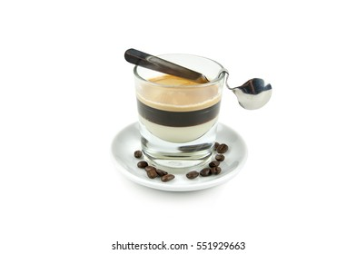 Cup of coffe with cream