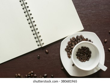 Cup with coffee bean