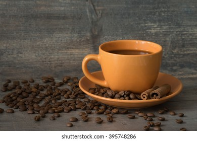 A cup of coffee beans