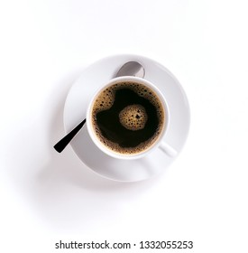 cup of coffee from a bird's eye view