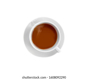 cup of coffee expresso isolated white background