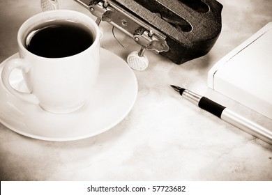 cup of coffee and guitar