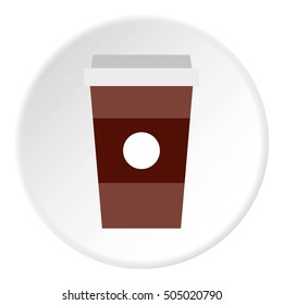 Cup of coffee icon. Flat illustration of cup of coffee  icon for web
