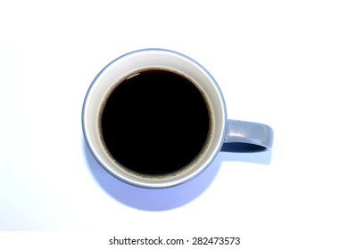A cup of coffee isolate on white background