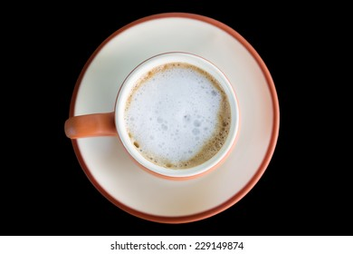 A cup of coffee isolated.