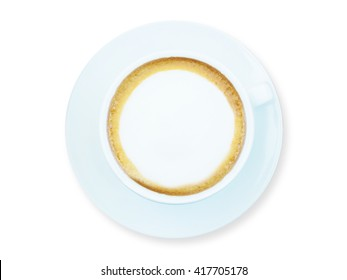 cup of coffee isolated with clipping path