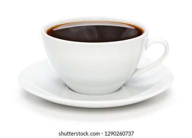 Cup of coffee, isolated on the white background, clipping path included.