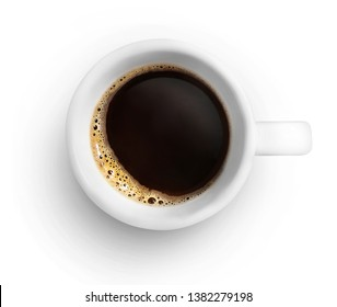 Cup of coffee isolated on white backround