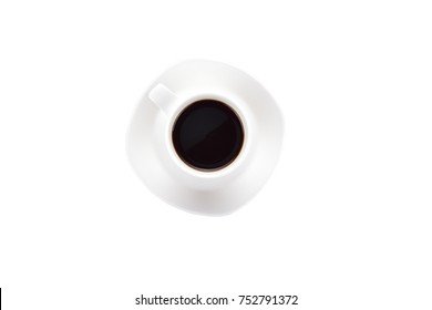 Cup of Coffee isolated on white background with Clipping path.