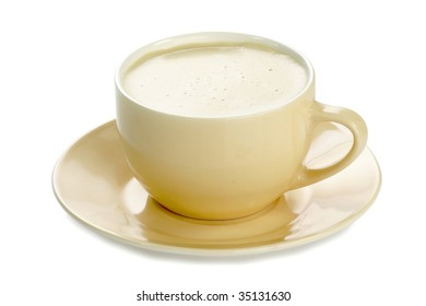 Cup of coffee with milk - isolated on white background