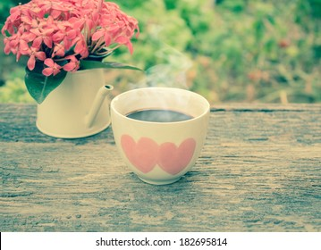 Cup of coffee in the morning