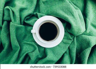 Cup of coffee for morning, top view