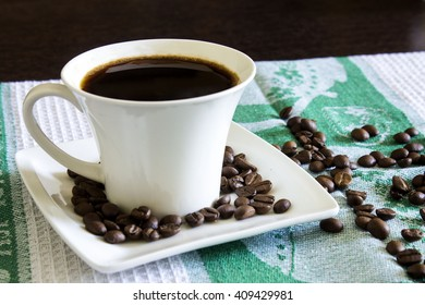Cup of coffee on a beautiful background