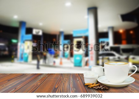 Cup Coffee On Wooden Table Coffee Stock Photo Edit Now 689939032