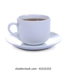 cup of coffee (or tee) on white background