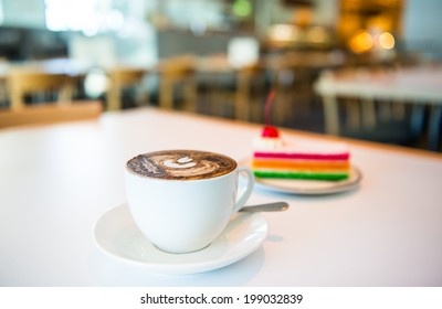 cup of coffee at coffee shop