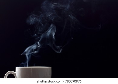 Cup of coffee and smoke