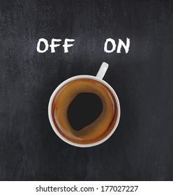 cup of coffee switching on