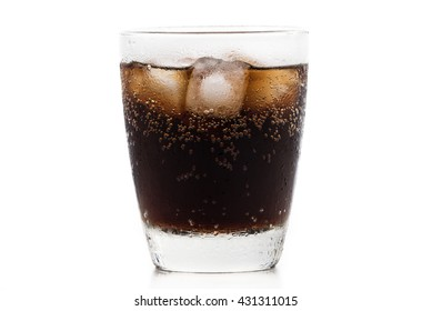 Cup of cola on isolated