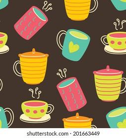 cup doodle pattern