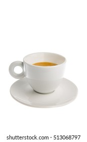 Cup of espresso isolated on white