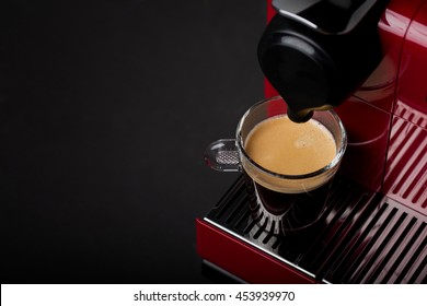 Cup of freshly brewed coffee