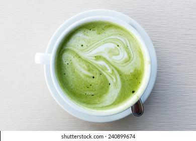 A Cup of Green Tea Latte