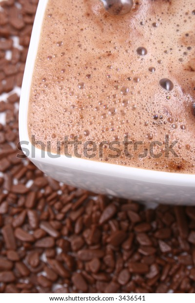cup of hot chocolate close-ups