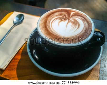cf4b382d4f Stock fotografie na téma Cup Hot Coffee Heart Shape Latte (k ...