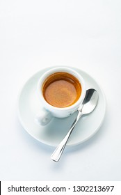 Cup of hot italian espresso