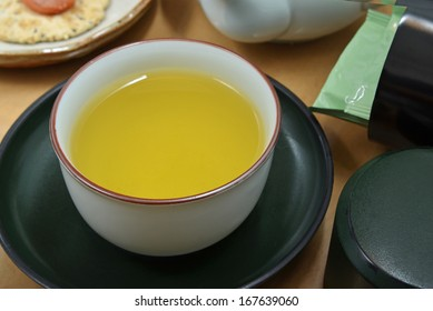 Cup of Japanese green tea