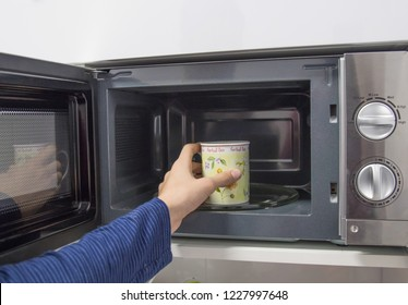 cup in microwave coffee or infusions, heat