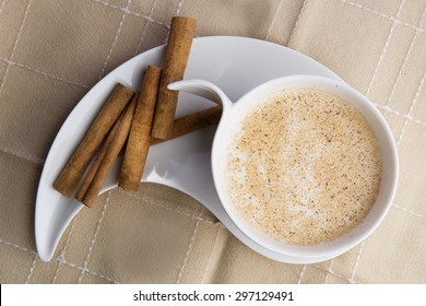 Cup o salep with cinnamon