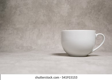 Cup on grey background
