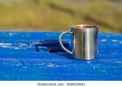 Cup on the white background