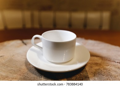 Cup on a wooden table